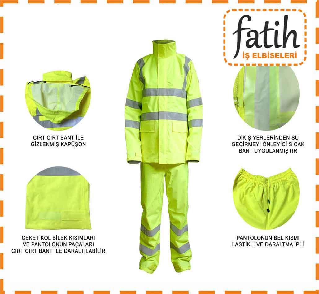 Yağmurluk Mont - Yağmurluk Pantolon Takım